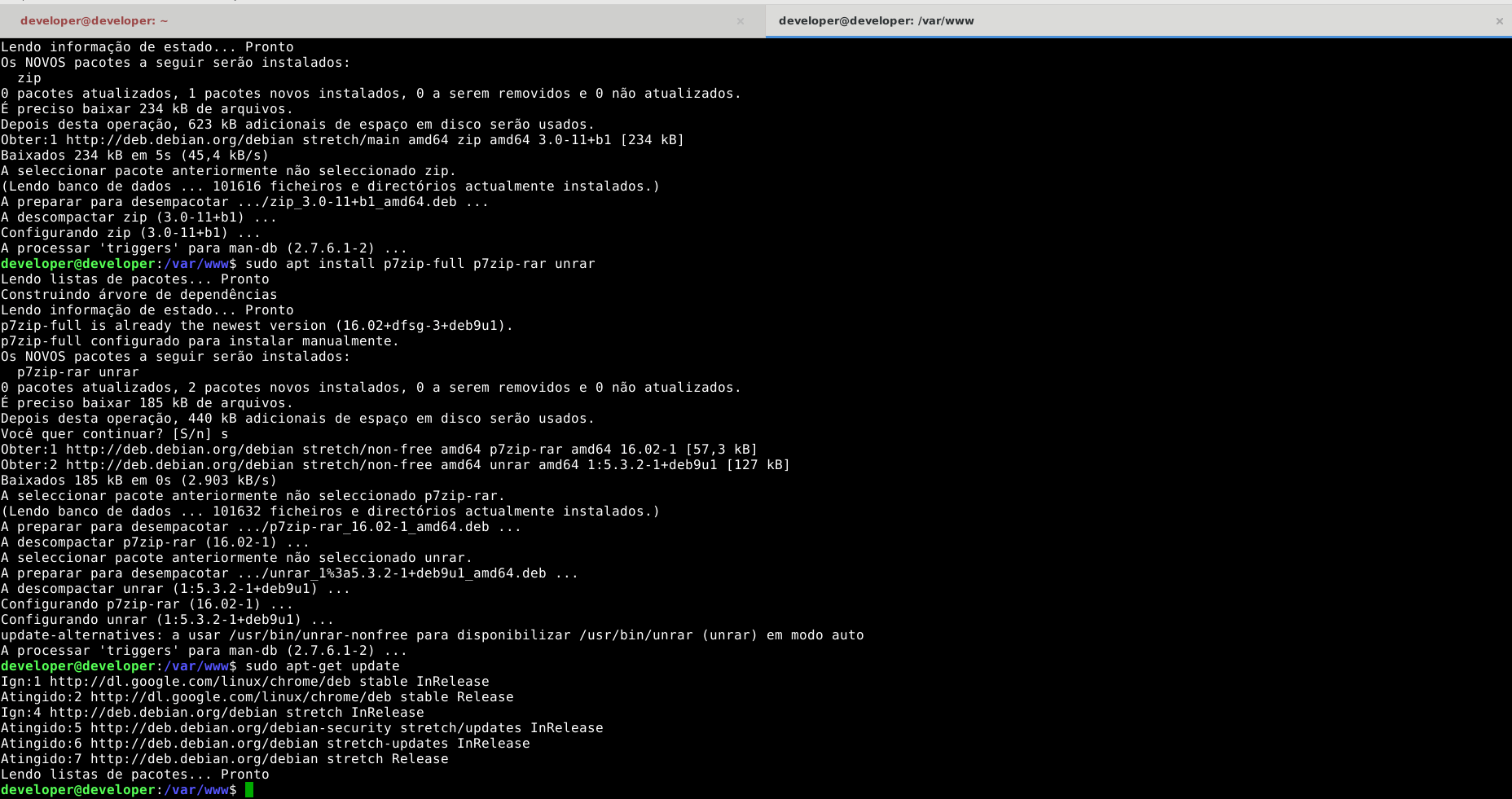 Como instalar rar no Debian 9 (Stretch)